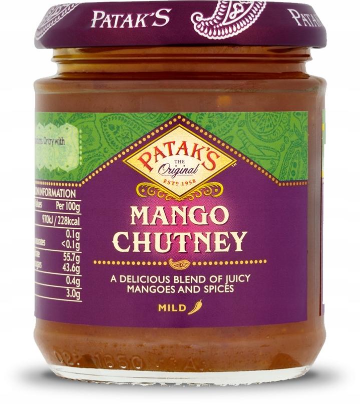 Chutney Mango ŁAGODNY 340g Patak's Dubaifood.pl