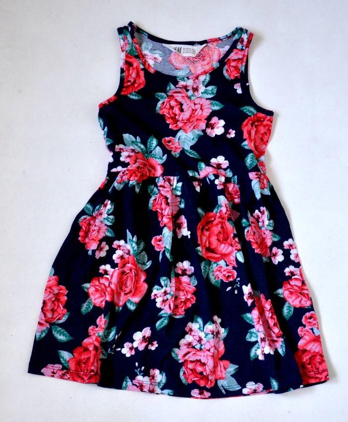 H&M Sukienka Kwiaty 2-4lat 98-104cm NOWA