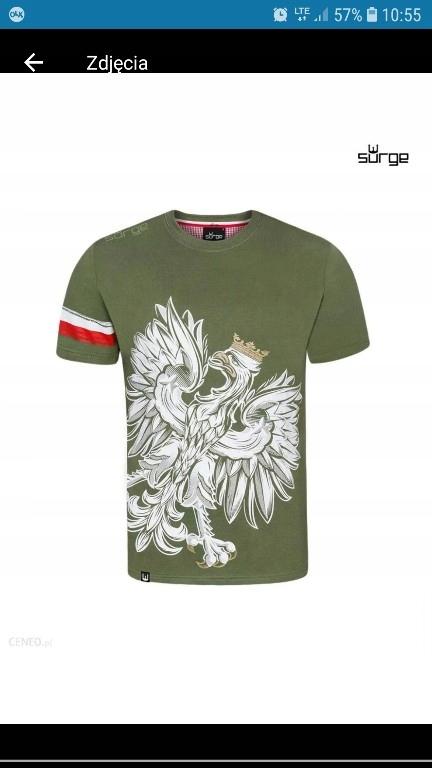 Koszulka T-shirt Surge Polonia Orzeł-Khaki