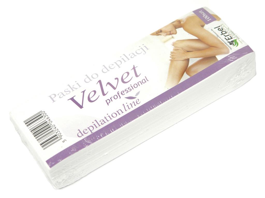 Paski fizelinowe do depilacji 100szt mocne Velvet