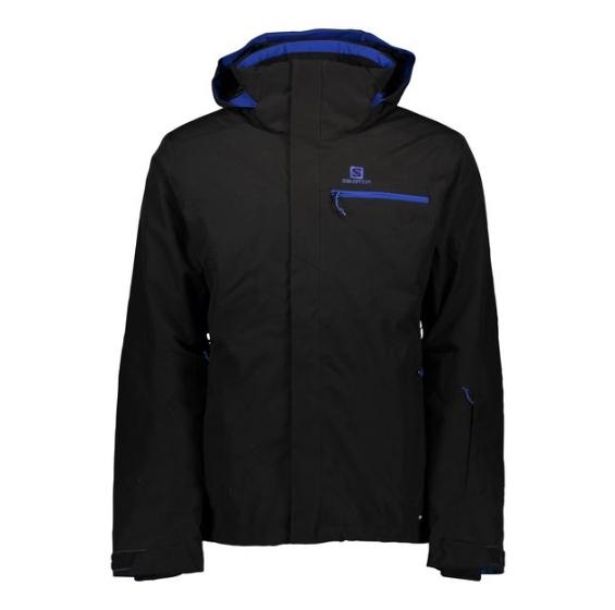 SALOMON Czarna kurtka wodoodporna narciarska (M)