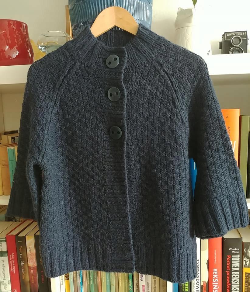 Marks&Spencer/ sweter z wełną i alpaką/ r. 14.