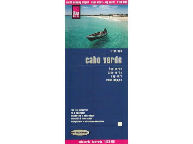 Cabo Verde mapa 1:135 000 Reise Know-How