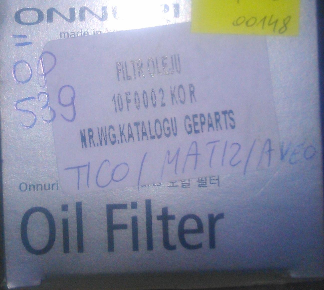 Filtr oleju OP 539 MATIZ TICO