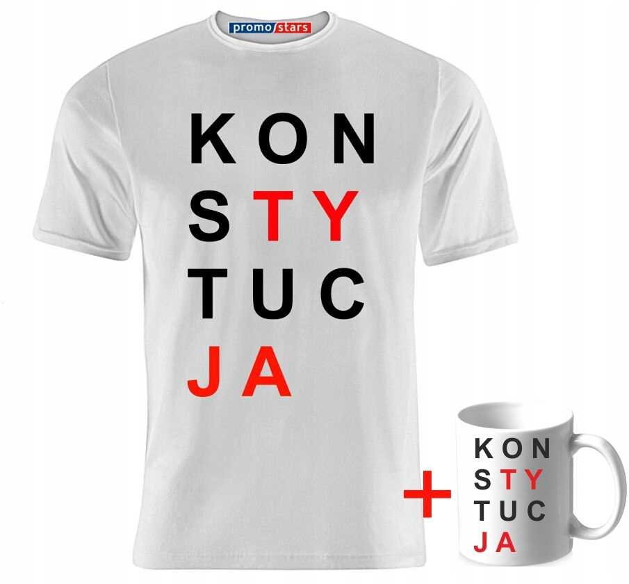 Koszulka KONSTYTUCJA, 170gr. + kubek GRATIS! MEGA!