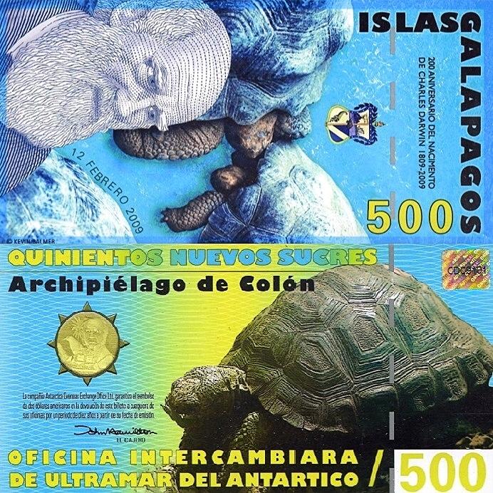 # GALAPAGOS - 500 SUCRES -2009- NLC - UNC starszy