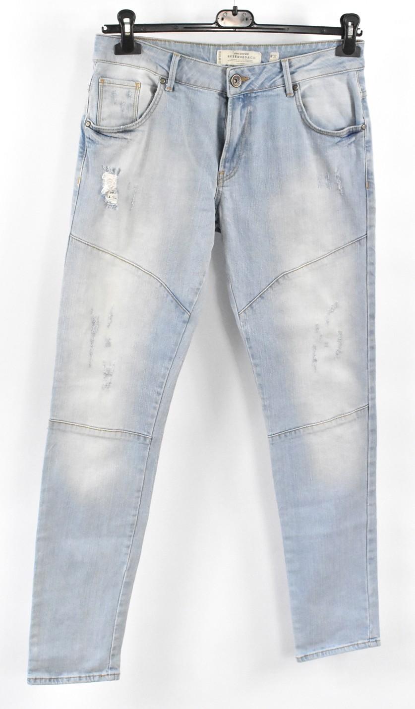 RESERVED spodnie męskie r_32/34 niebieski