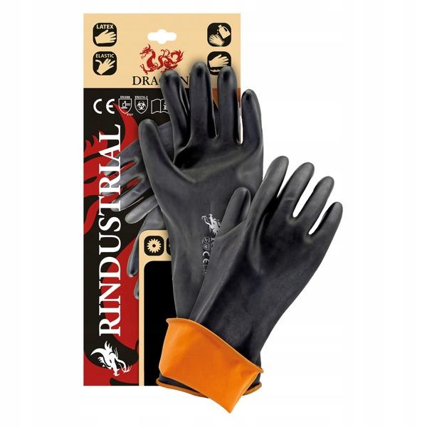Rękawice Robocze Gumowe 12 Par RINDUSTRIAL 35cm