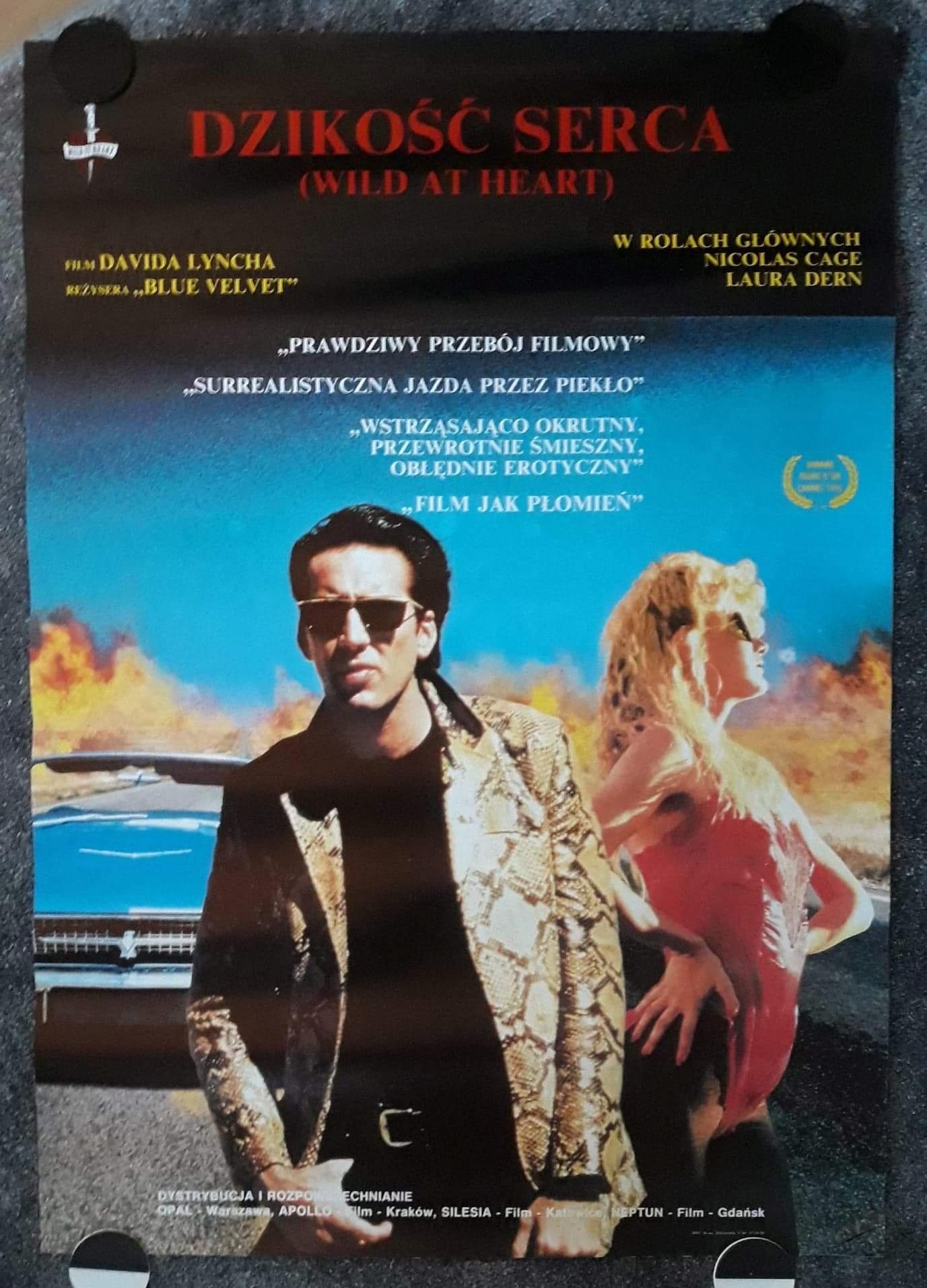 Dzikość Serca 1990 Plakat Filmowy Lynch Cage 7717212151