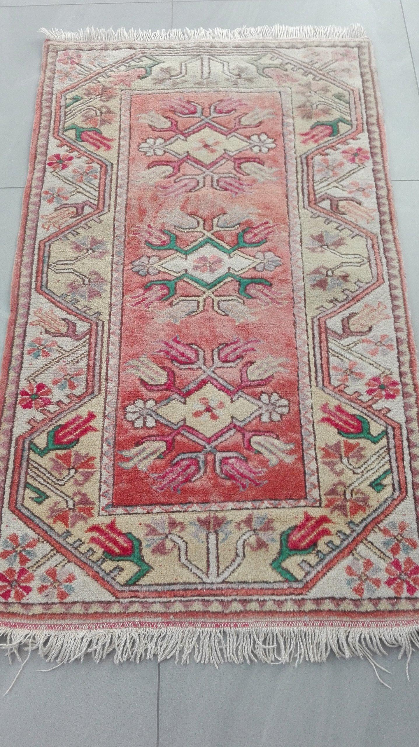 TURCJA 100% wełna ręcznie tkany CHODNIK 145X83 cm