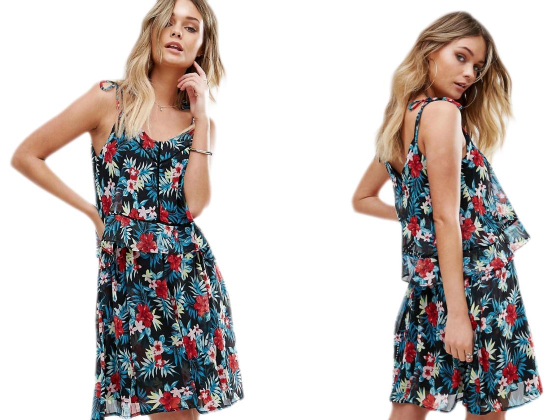 Design-Boohoo Mini Sukienka w Kwiaty S/36