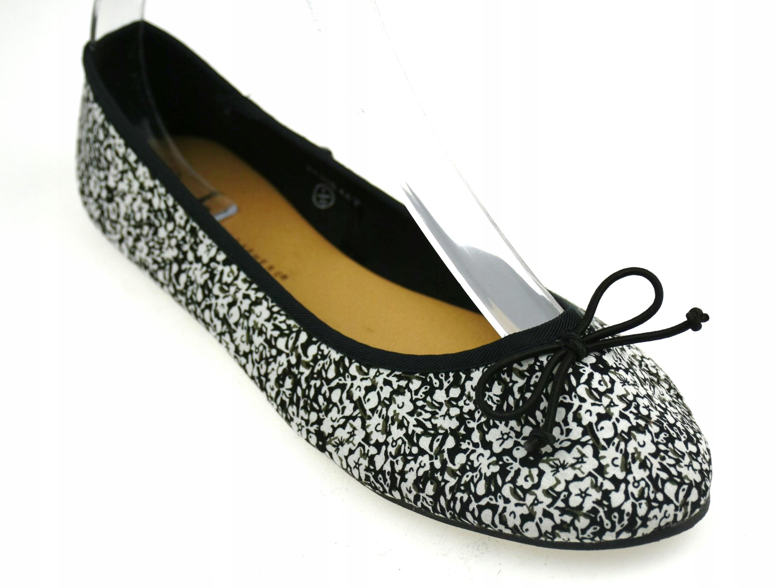ATMOSPHERE buty DAMSKIE balerinki kwiatowe 4S433