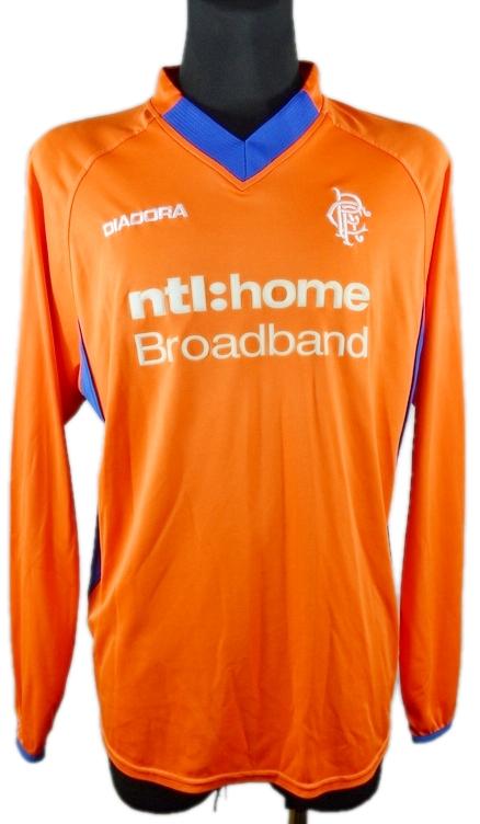 Glasgow Rangers DIADORA Koszulka Vintage IDEAŁ _ L