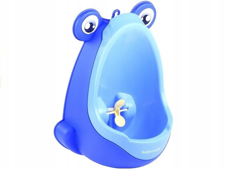 Mini Pisuar Żabka Przyssawki Chłopięcy Niebieski