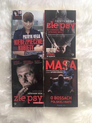 ZESTAW Patryk Vega książki + Masa