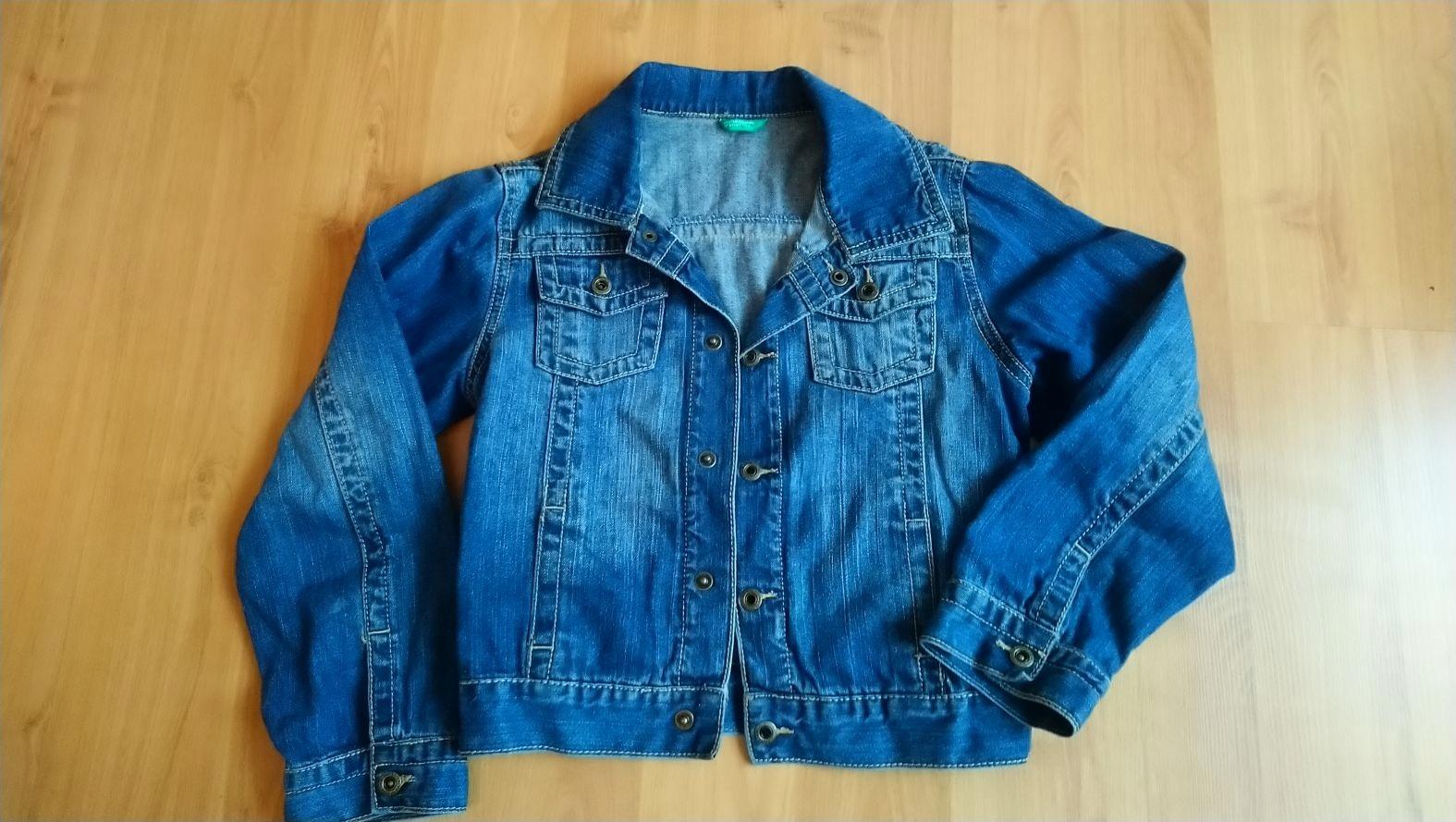 kurtka jeansowa Benetton 7-8 lat 130 cm