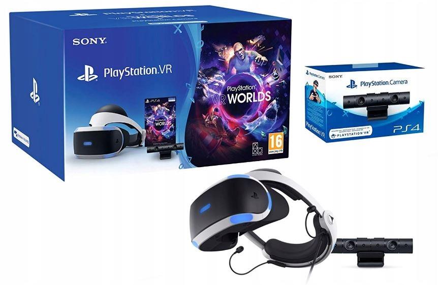 PS4 GOGLE VR V2 + KAMERA V2 + VR Worlds