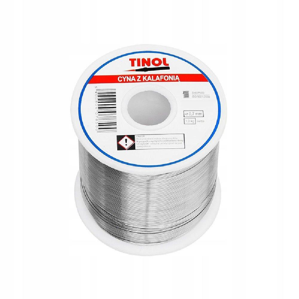 Cyna Sn60Pb40 0.7mm 1kg TINOL