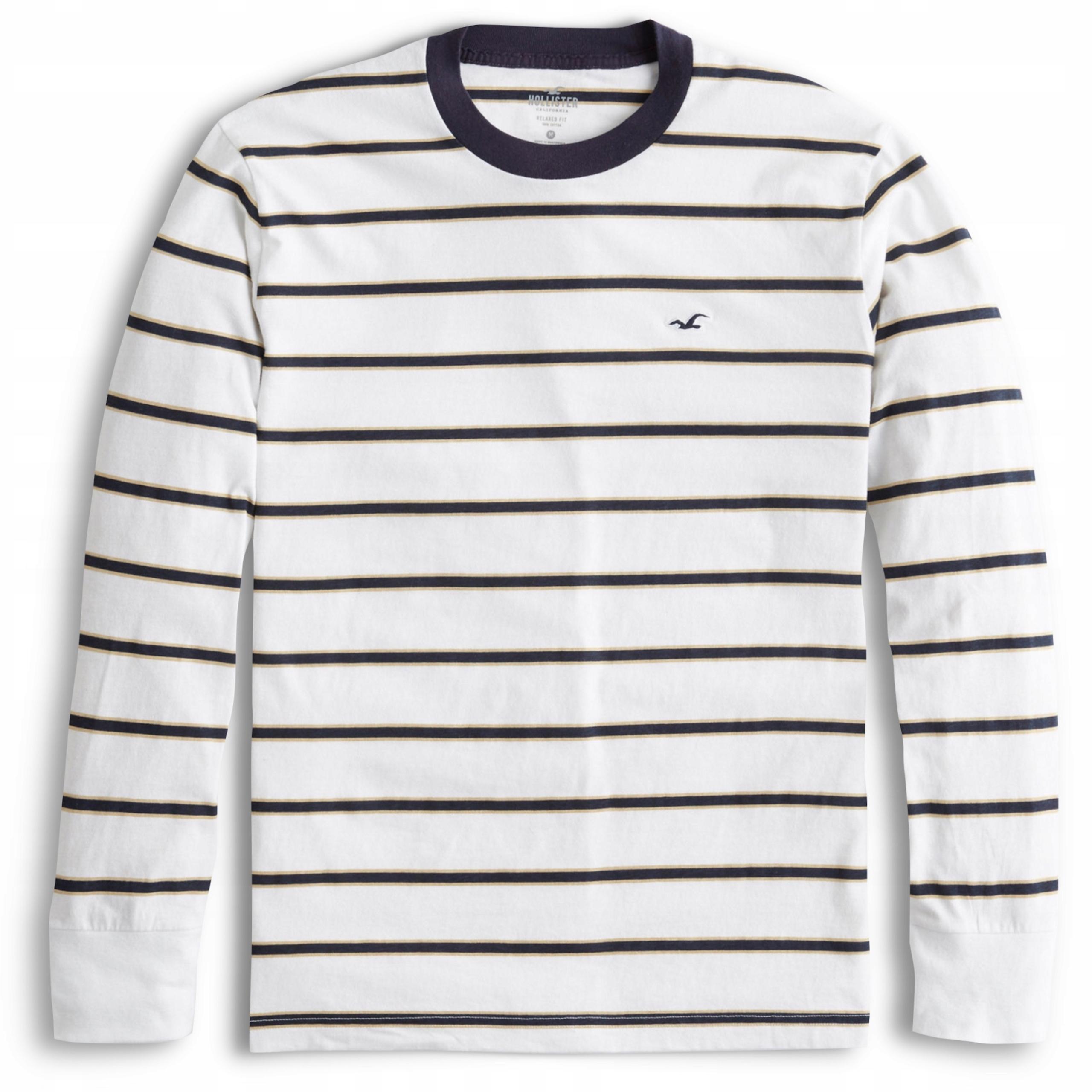 Longsleeve Koszulka Logo HOLLISTER Abercrombie L