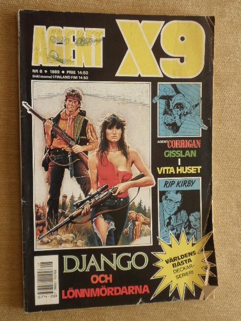 WYPRZEDAŻ KOMIKS AGENT X9 Nr.8 1989r. SWEDEN
