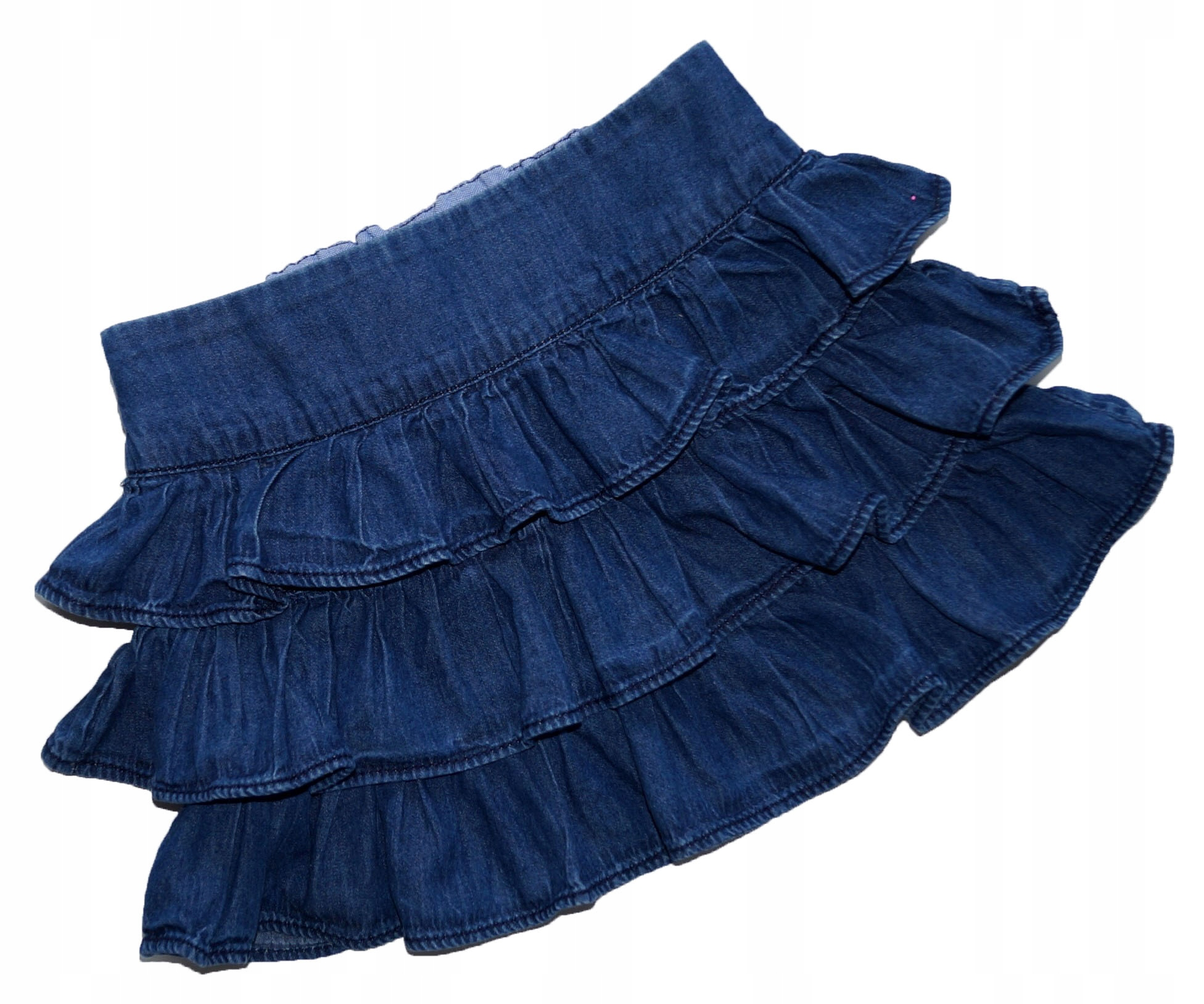 *_GAP_* jeansowa spódniczka z falbankami_CUDO__98