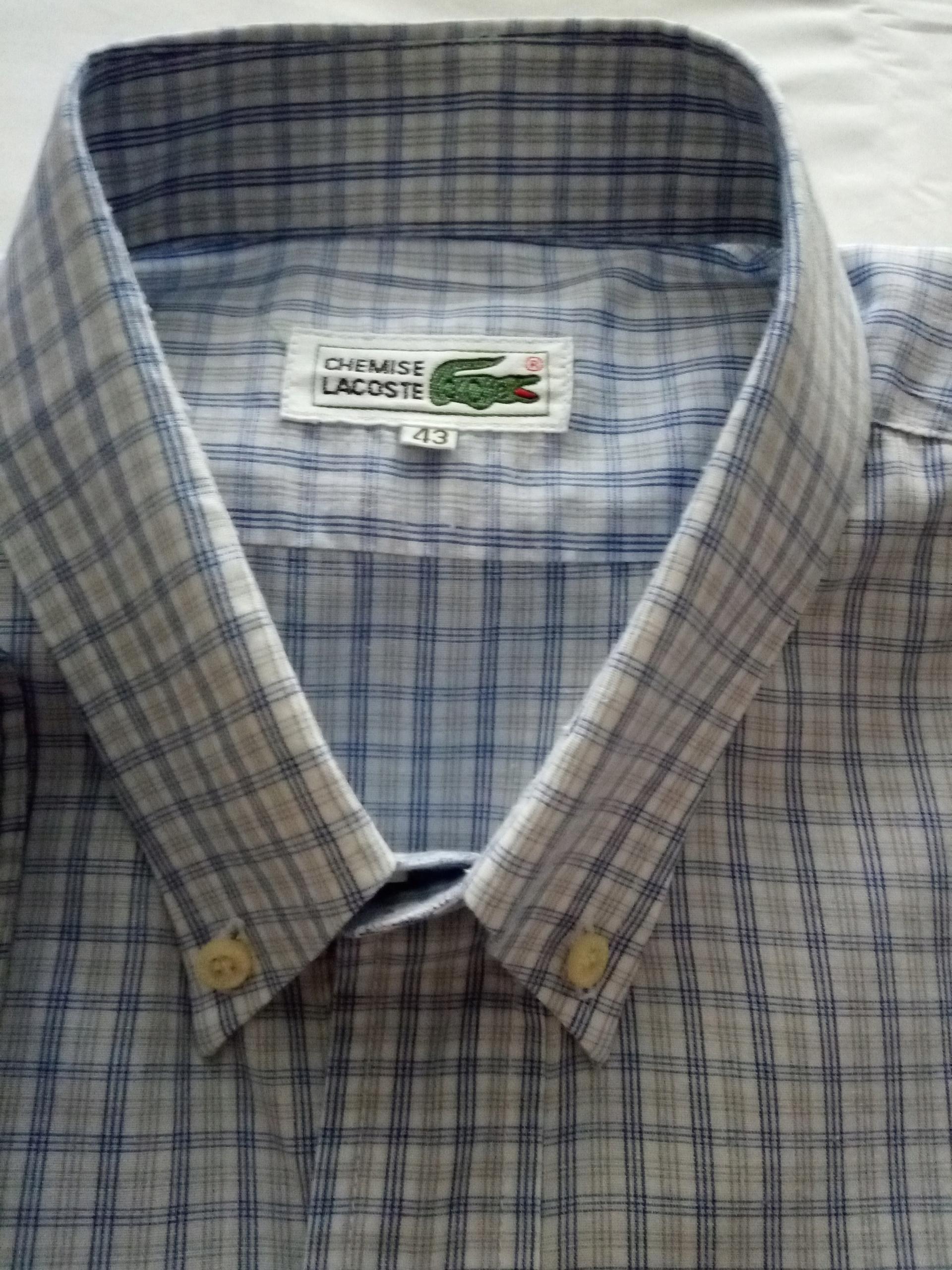 LACOSTE - koszula z długim rękawem