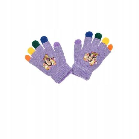 rękawiczki soy luna podwójne kolorowe fiolet