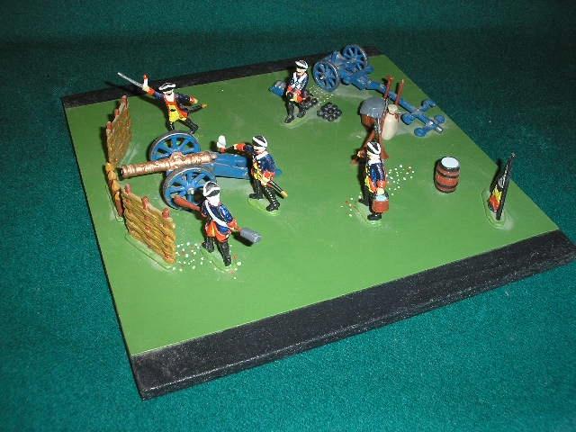 Żołnierzyki z cyny epoka Napoleońska- artyleria