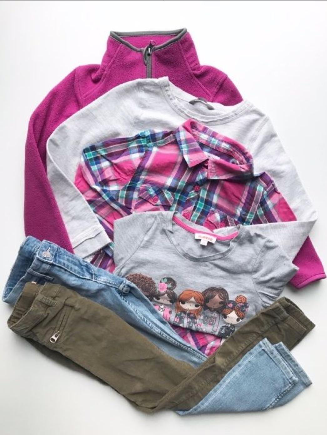 Zestaw dla dziewczynki 7 l, Zara, H&M, Lindex