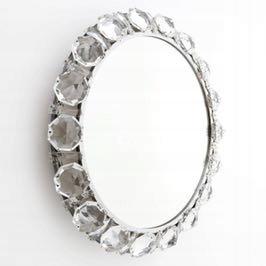 Biżuteryjne lustro Palwa kryształowe 1950-1960r