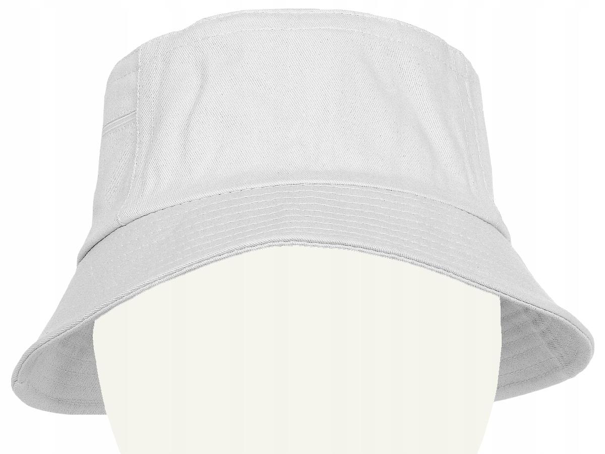 Bawełniany KAPELUSZ z KIESZENIAMI czapka biały 58
