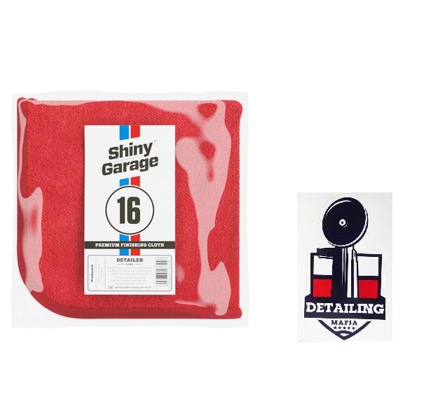 Shiny Garage Red Finisher Plush Microfiber 600gsm