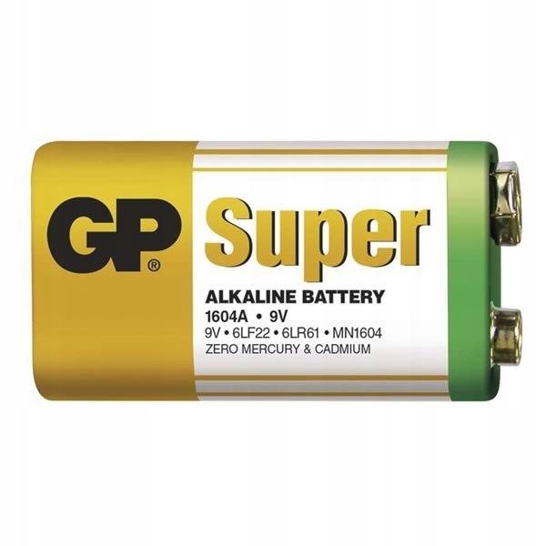 Bateria alkaliczna, R61, 9V, GP, folia, 1-pack, SU
