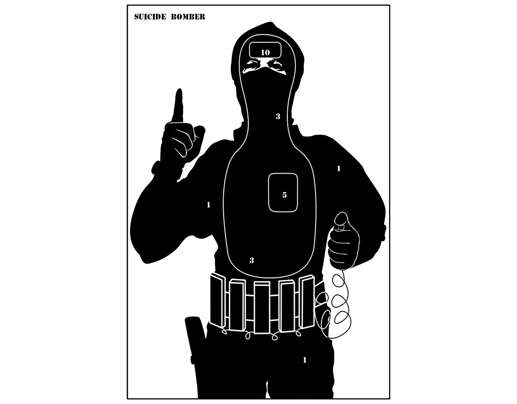 """TARCZE SYLWETKOWE """"TERRORYSTA"""" - 10 SZT"""