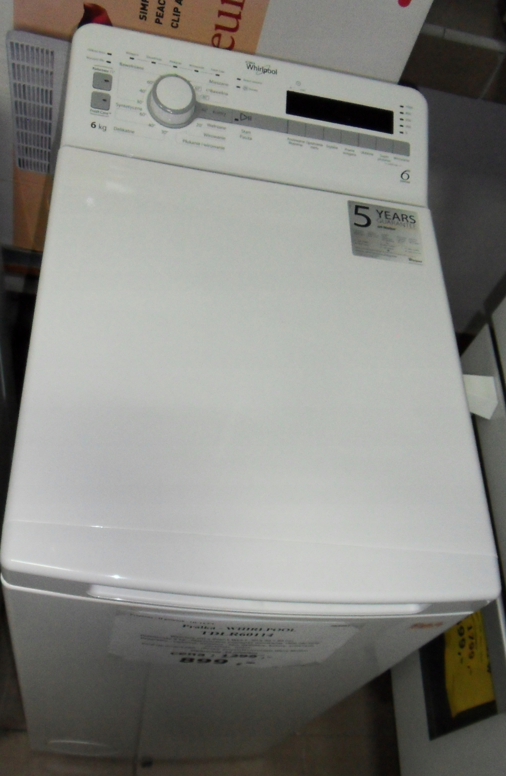 Outlet AGD Pralka Whirlpool TDLR60114