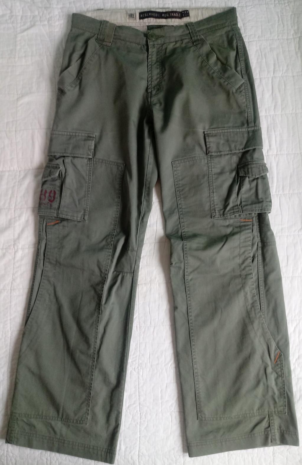 2 szt. spodni Bojówki RESERVED roz 33 szer 2x 43cm