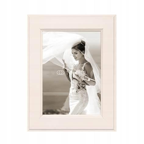 Ramka na zdjęcie MALMO - kremowa - 10x15 - Styler