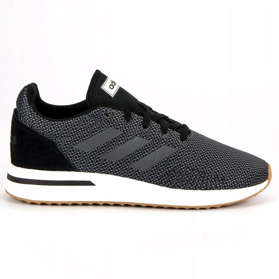 Szare Skórzane Buty Męskie Sportowe Adidas rozmiar 44,5
