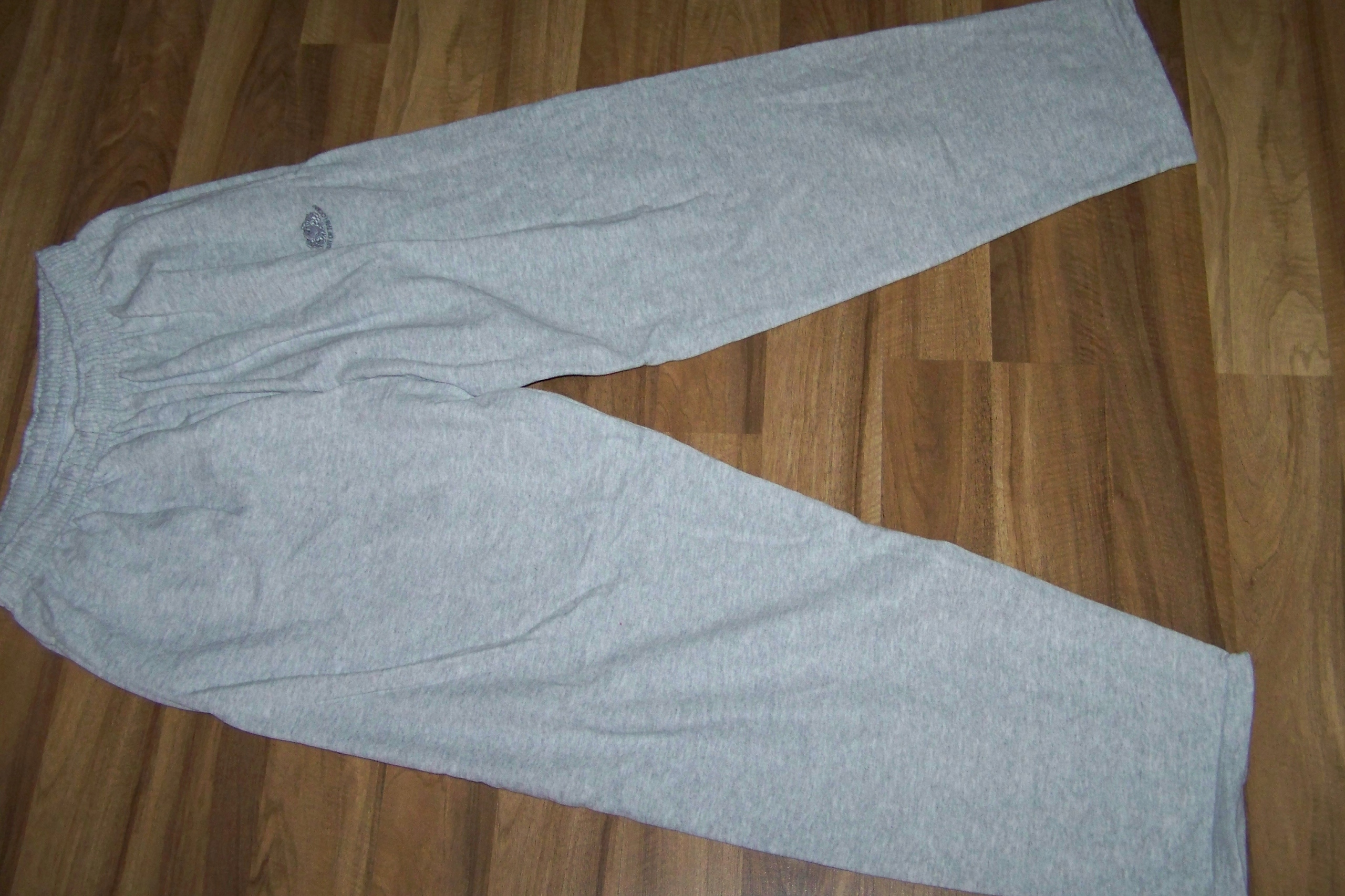 FRUIT szare męskie spodnie dresowe XL/XXL SUPER