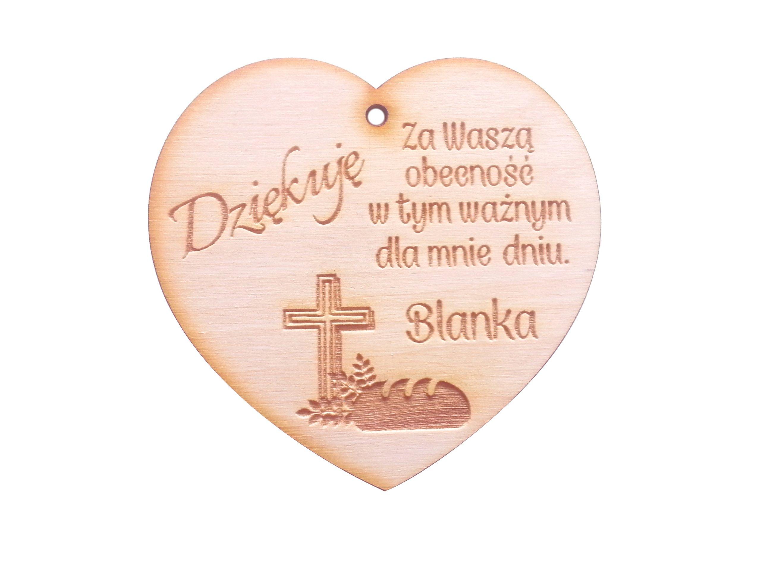 PODZIĘKOWANIE dla gości I komunii Świętej serce