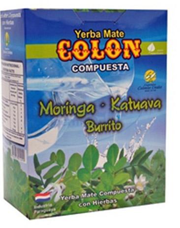 Yerba mate Colon Moringa, Katuava y Burrito - 250g