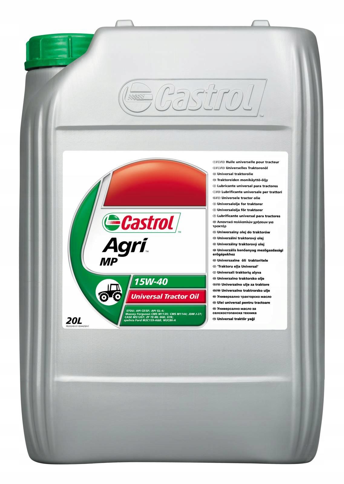 Olej Castrol AgriMp 15W40 do maszyn rolniczych 20L - 7621041676
