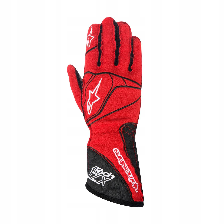 Rękawice Alpinestars 1-ZX czerwone (FIA) L!