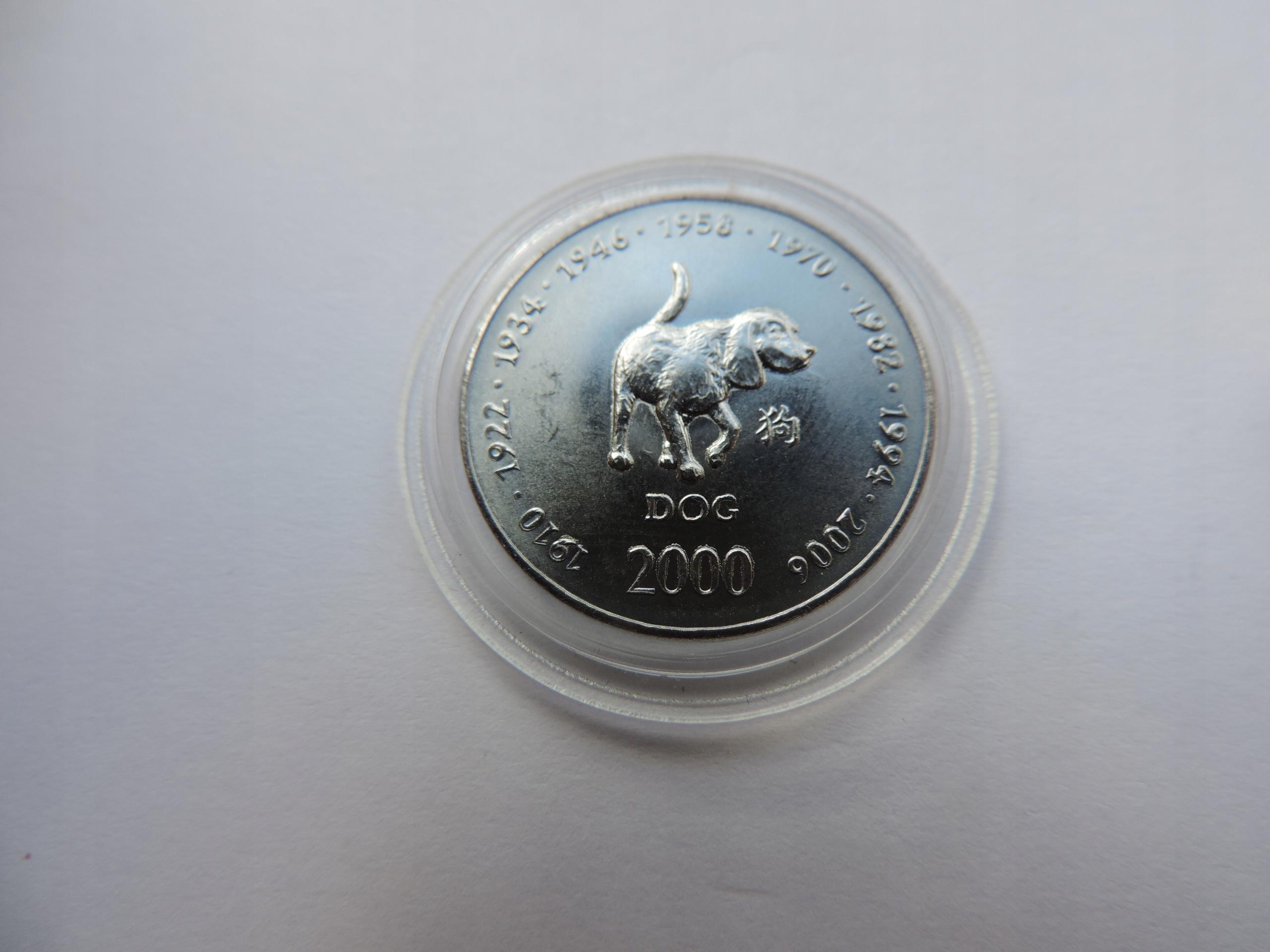 SOMALIA 10 SHILLINGS 2000 (Year of the Dog)