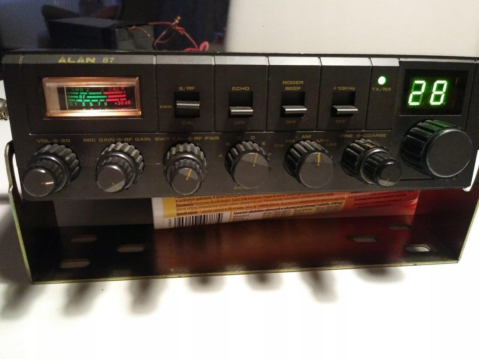 alan 87 plus mikrofon oraz miernik swr !