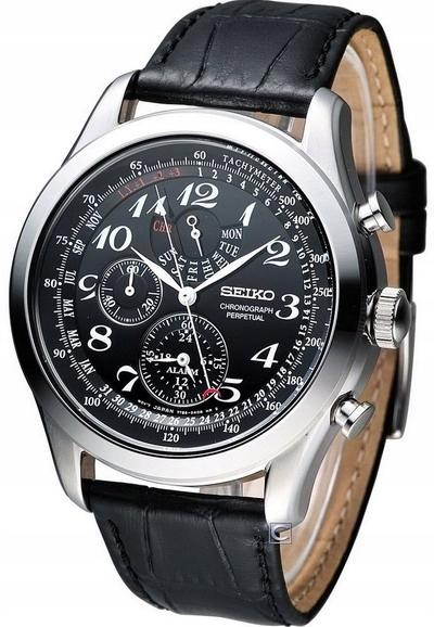 24h zegarek SEIKO Chronograph Perpetual SPC133P1