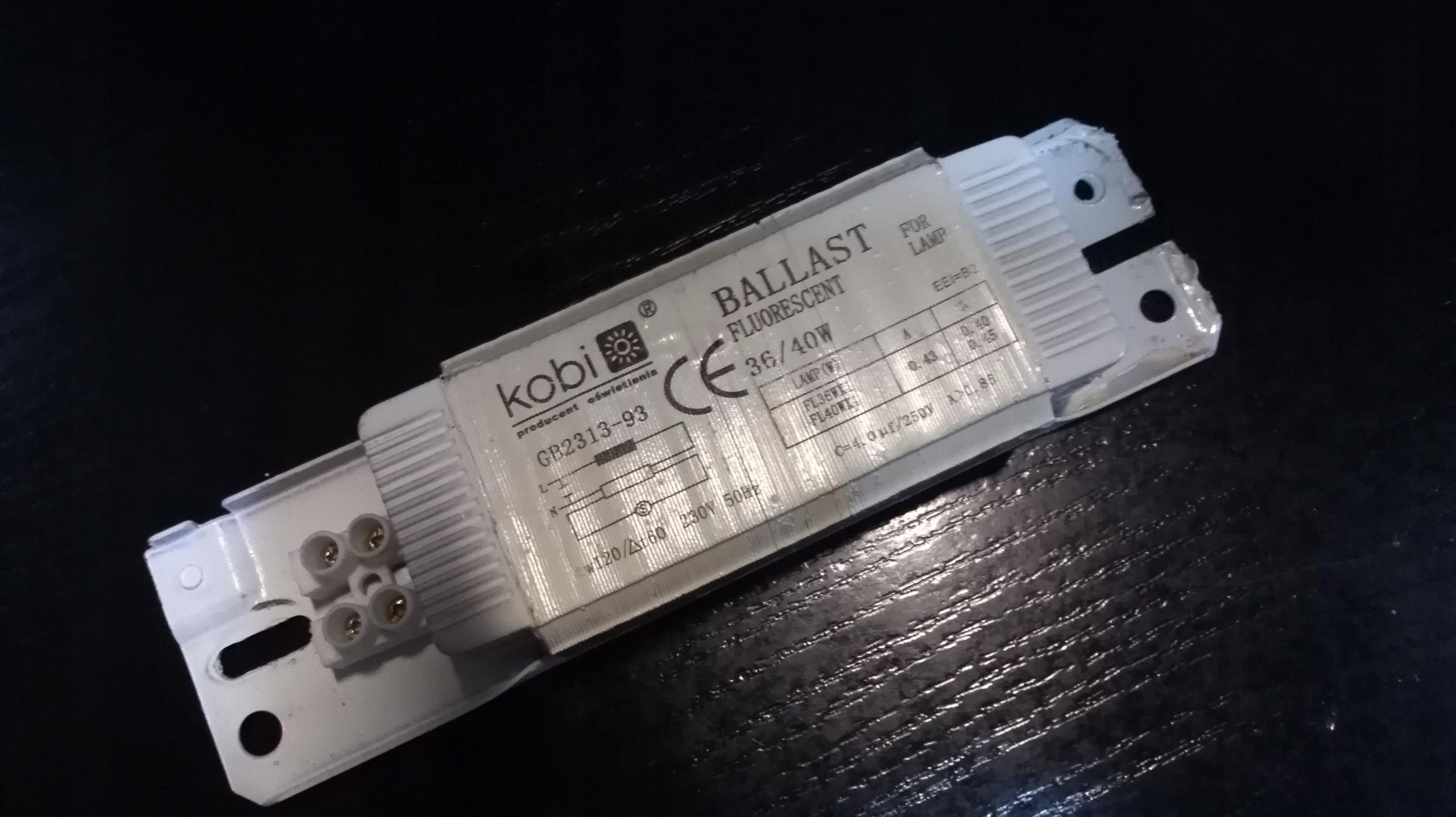 Statecznik zapłonnik KOBI GB2313-93 (s.w.)