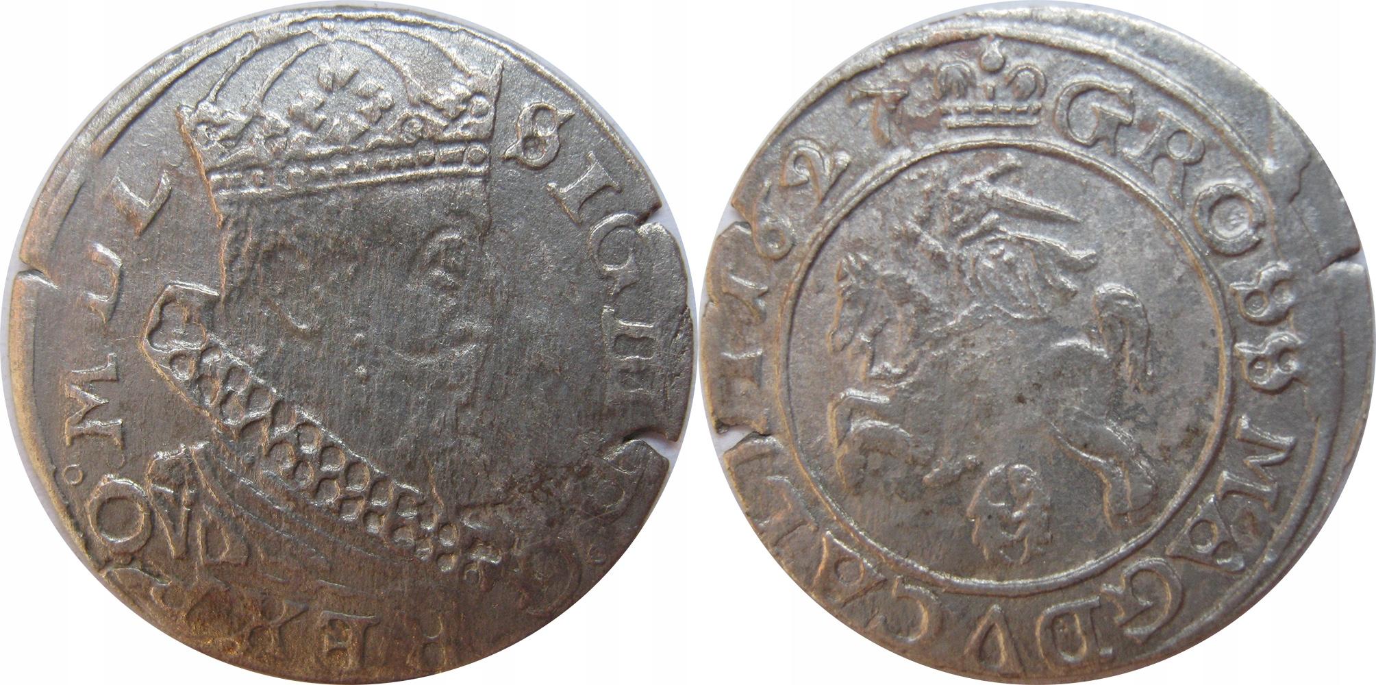 Grosz 1627r, Wilno
