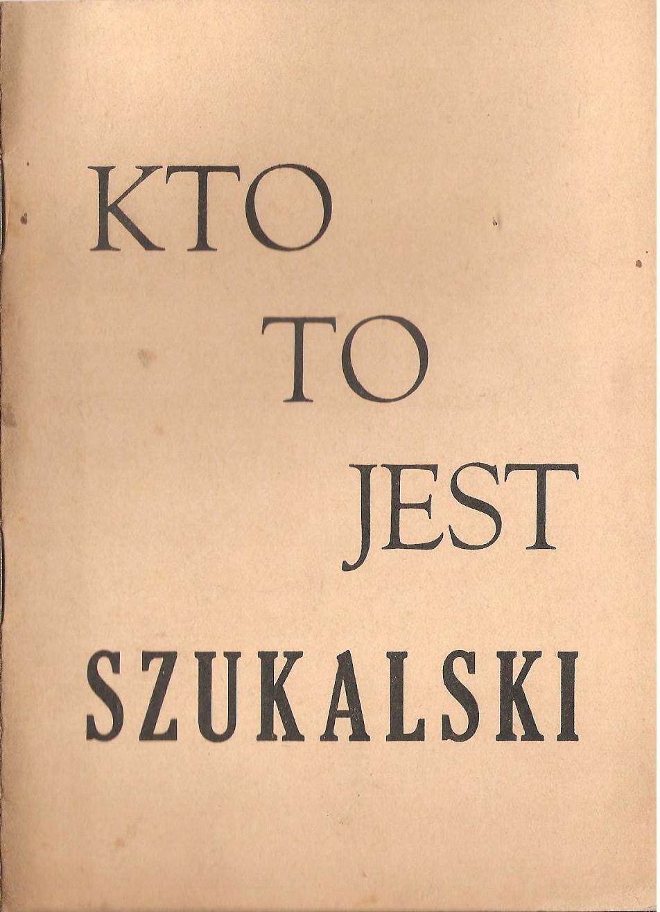 Marian Ruzamski, Kto to jest Szukalski