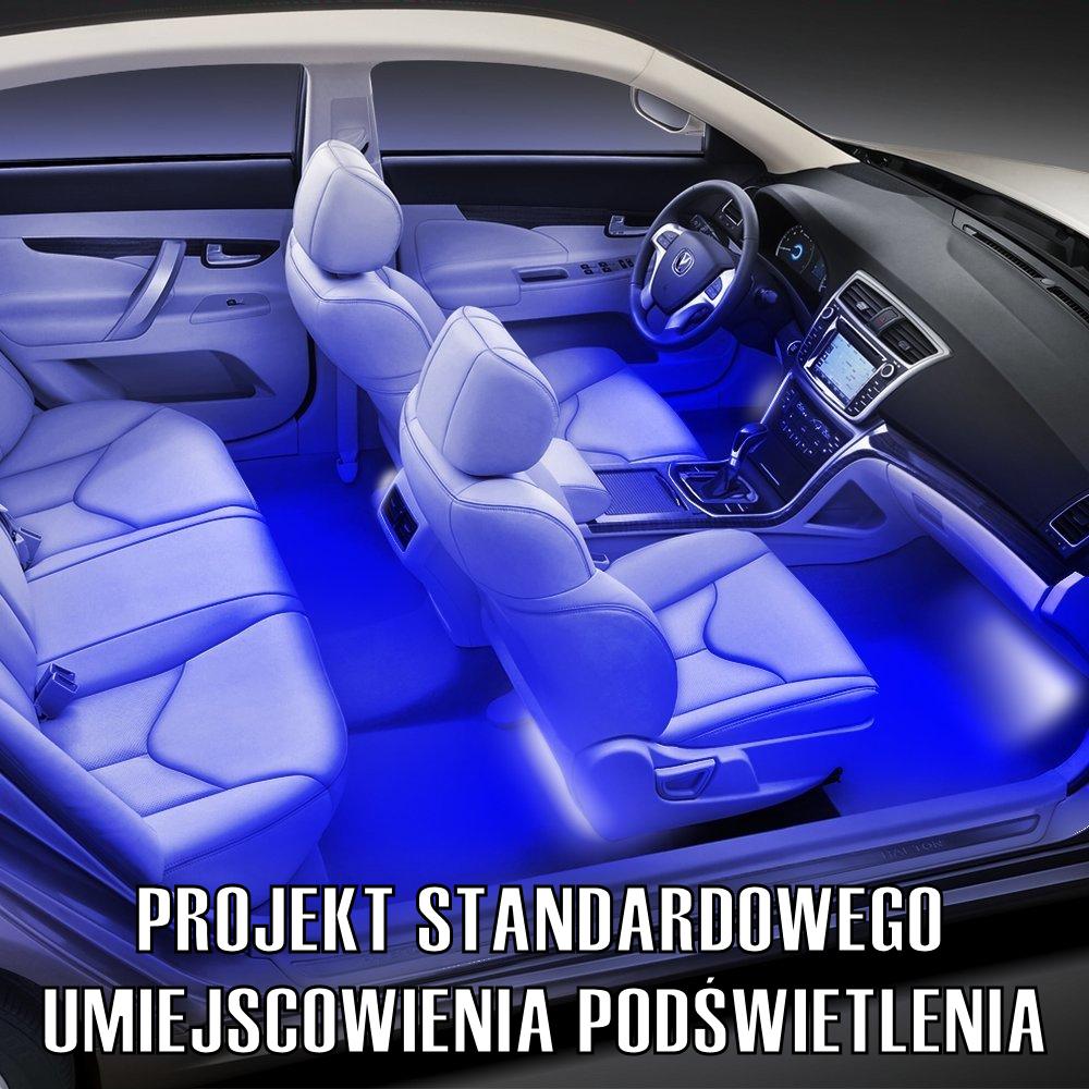 Oświetlenie Auta Samochodu Wnętrza Kabiny Led Rbg